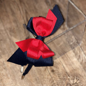 Navy & Red Bow Headband