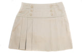 Girls Pleated 6-Button Skort