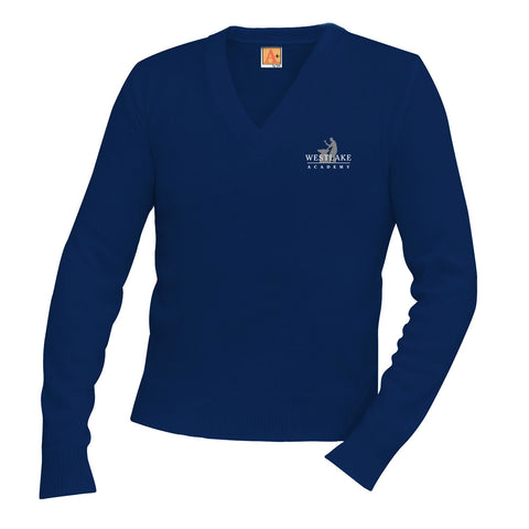 Westlake Academy Adult Long-Sleeve V-Neck Sweater