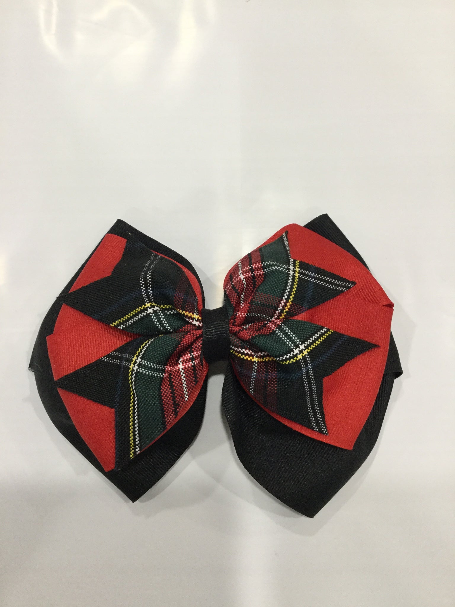 CTCS Large Plaid 3-Layer Bow