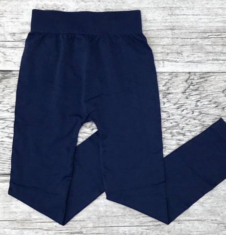 Junior's Seamless Leggings (Navy)