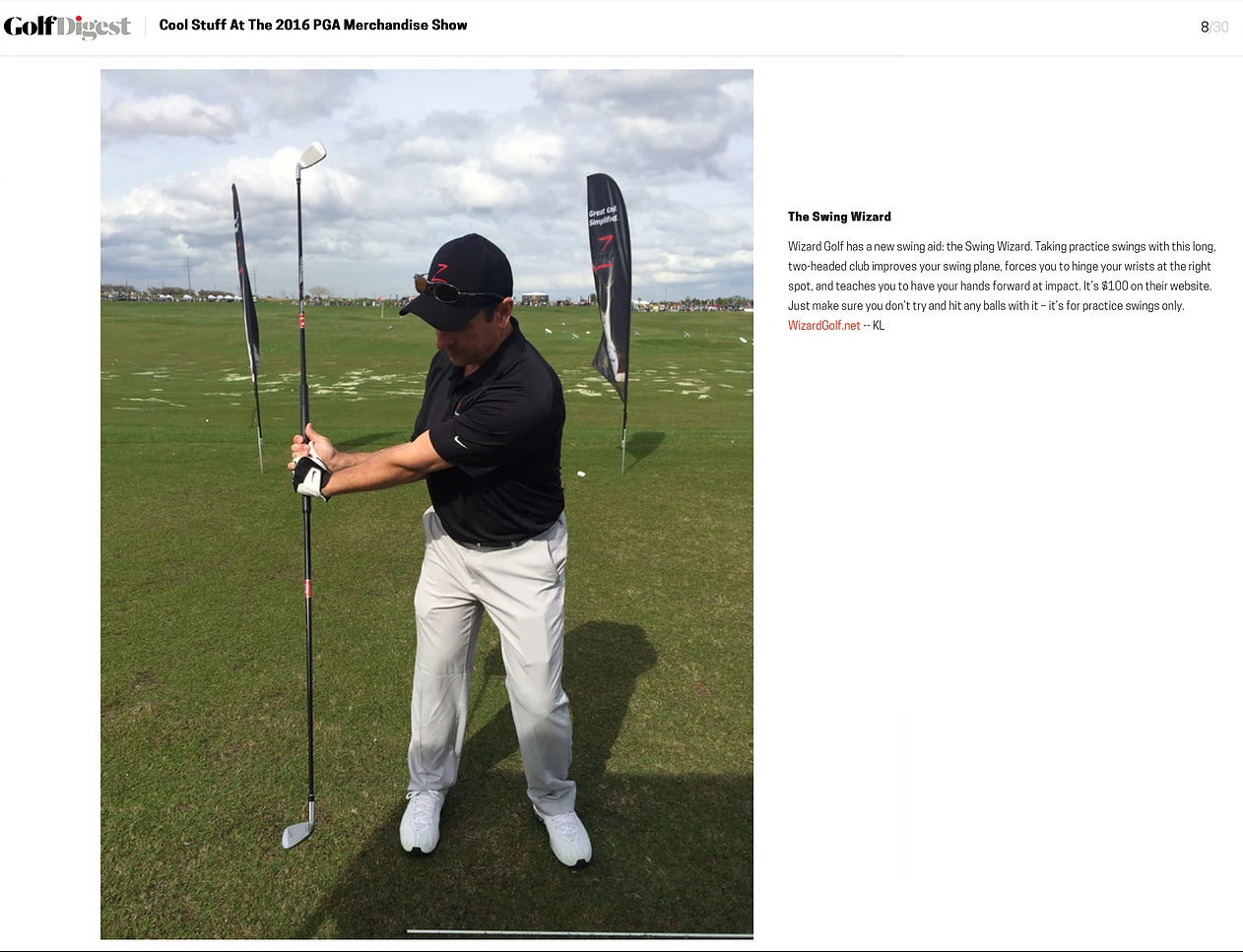 Golf Digest Swing Wizard 2016 PGA Show