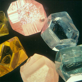 Growth of fancy Colored Diamonds, including blue, pink and yellow, begins