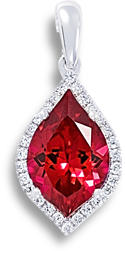 a red pendant