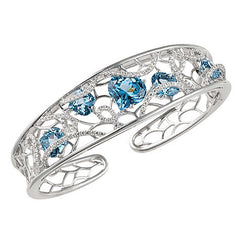 Aqua Blue Spinel Cuff Onion