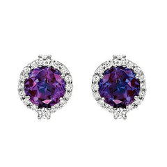 Alexandrite Earrings Round