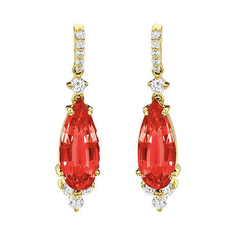 Ruby Earrings Pear