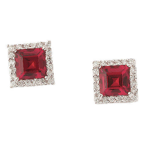 Ruby Earrings Square