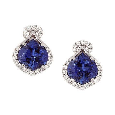 Blue Sapphire Earrings Onion