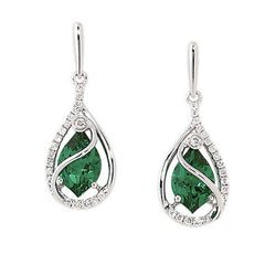 Emerald Earrings Flame
