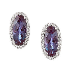 Alexandrite Earrings Oval