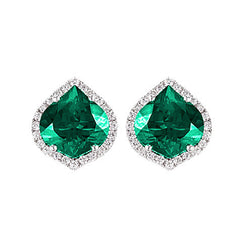 Emerald Earrings Onion