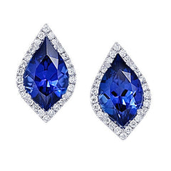 Blue Sapphire Earrings Flame
