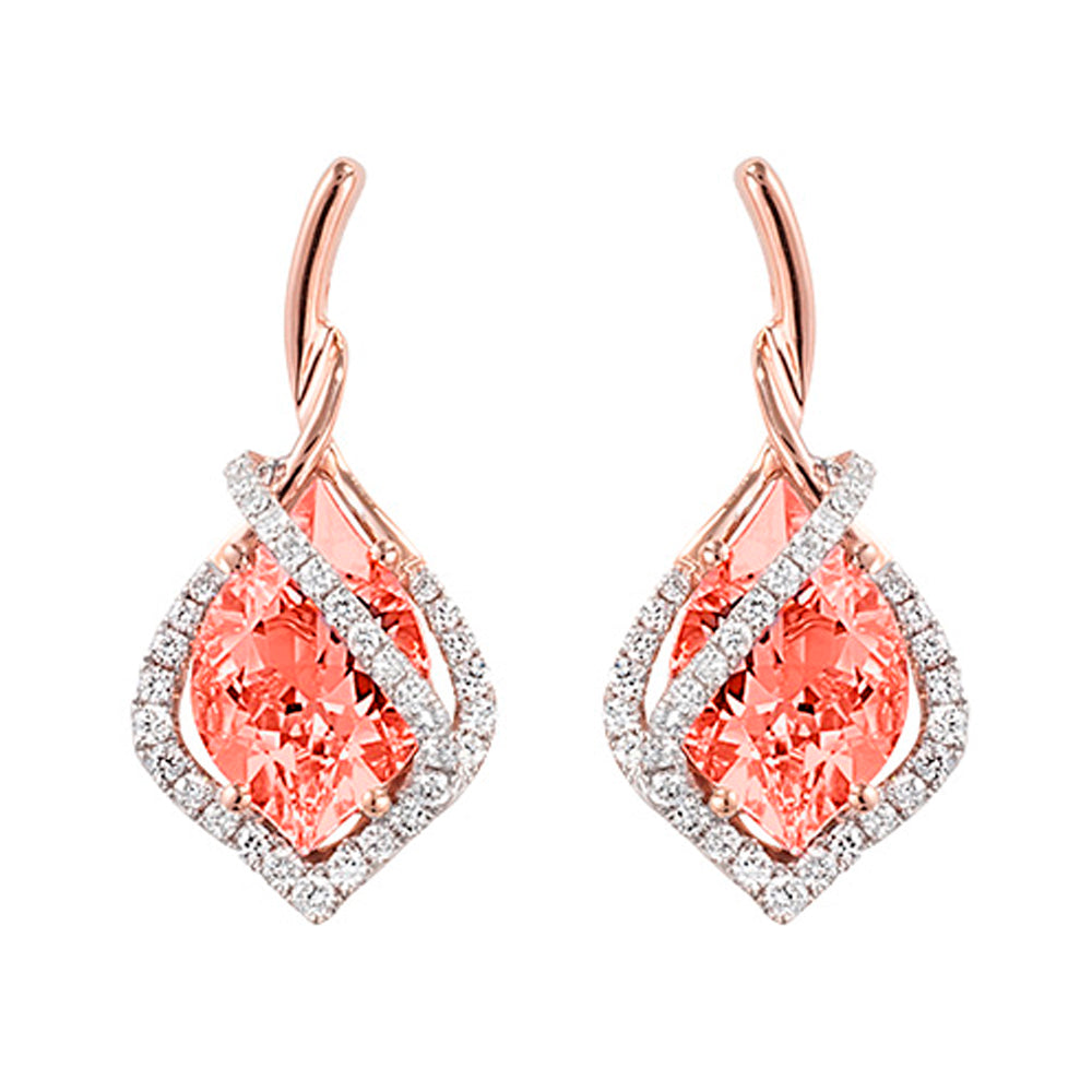 Champagne Sapphire Earrings Flame