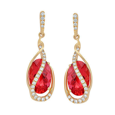 Padparadscha Earrings Oval
