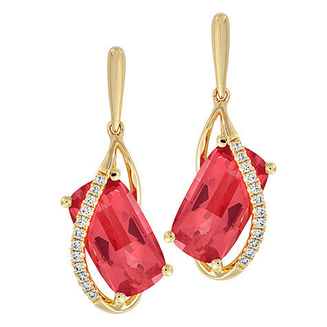 Padparadscha Earrings Antique Cushion