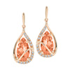 Champagne Sapphire Earrings-CE4286RCS