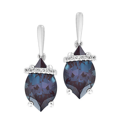 Alexandrite Earrings Flame