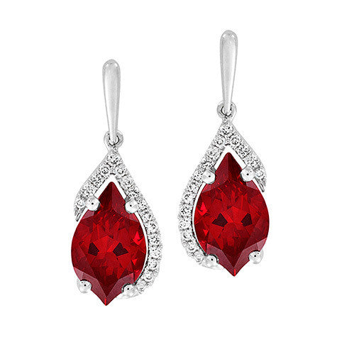 Ruby Earrings Flame
