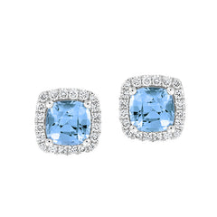 Aqua Blue Spinel Earrings Century