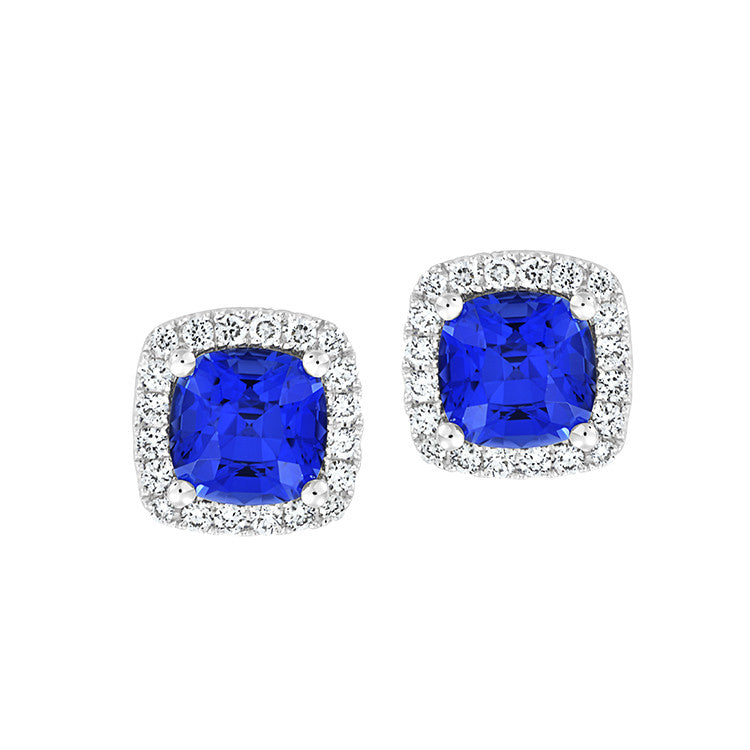 Blue Sapphire Earrings Century
