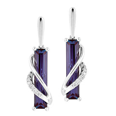 Alexandrite Earrings Baguette
