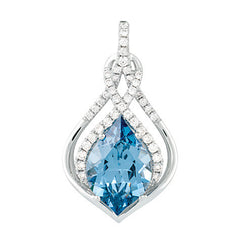 Aqua Blue Spinel Pendant Flame