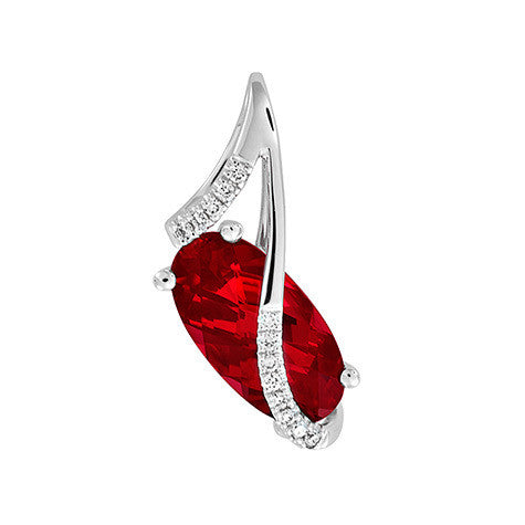 Ruby Pendant Oval