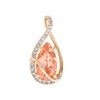 Champagne Sapphire Pendant-CP4383RCS