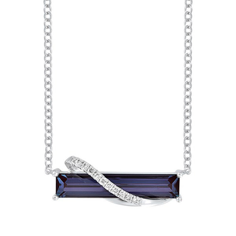 Alexandrite Necklace Baguette