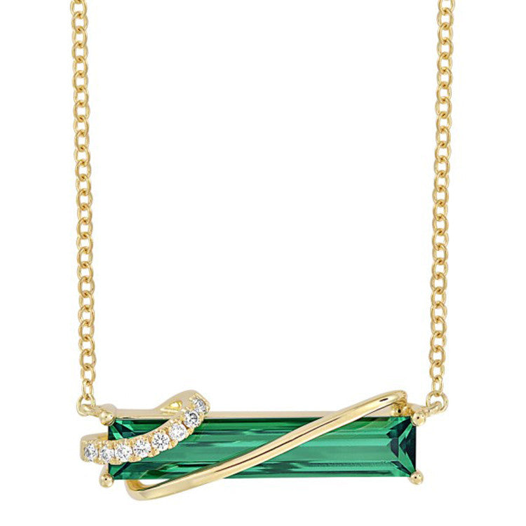Emerald Necklace Baguette