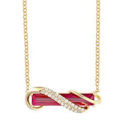 Padparadscha Necklace Baguette