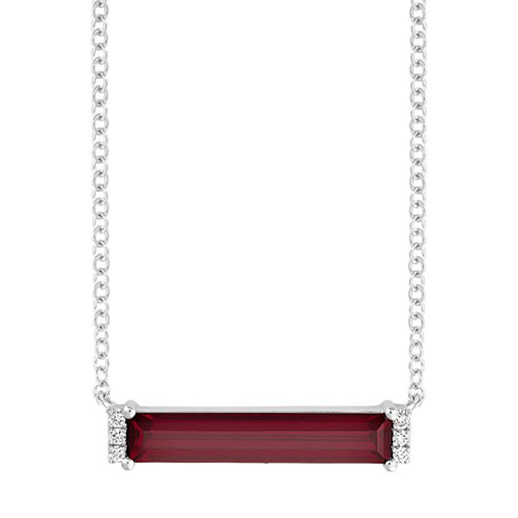 Ruby Necklace Baguette