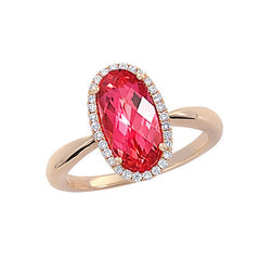 Padparadscha Ring Oval