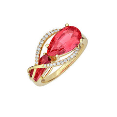 Padparadscha Ring Pear