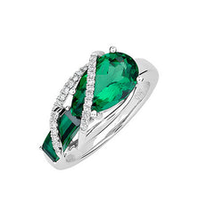 Emerald Ring Pear