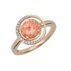 Champagne Sapphire Ring Round