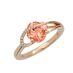 Champagne Sapphire Ring Onion