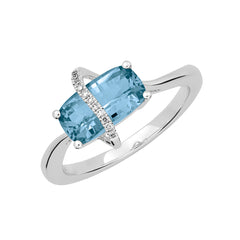 Aqua Blue Spinel Ring Antique Cushion