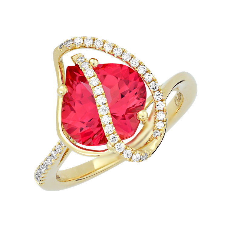 Padparadscha Ring-CR13107YPD