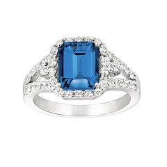 Blue Sapphire Ring Octagon