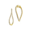 Diamond Fashion Hoops