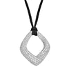 Diamond Fashion Pendant - FDP4797W-W/SILK CORD
