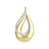 Diamond Fashion Pendant - FDP4804YW