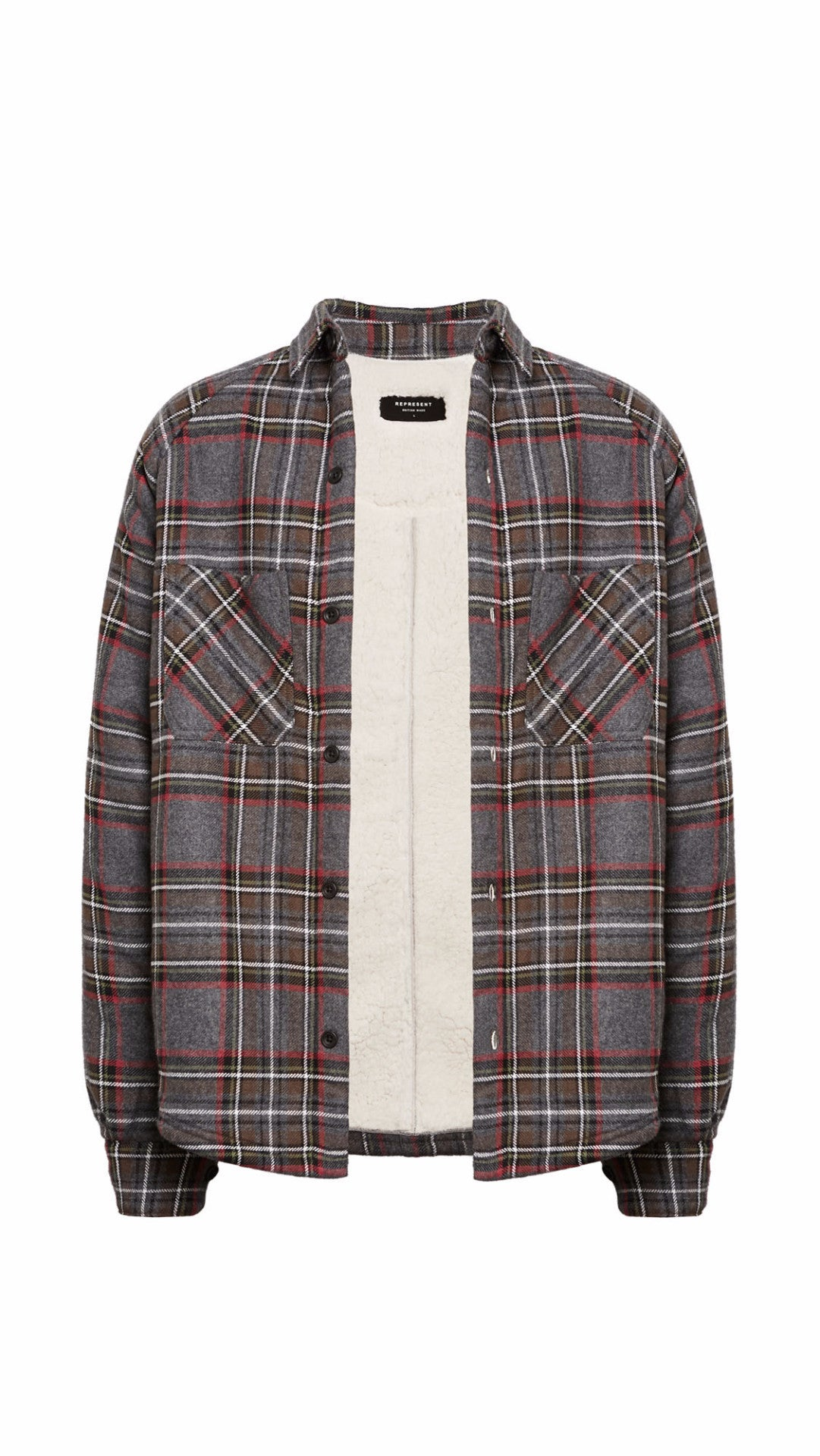 Sherpa Flannel - Wolf Grey