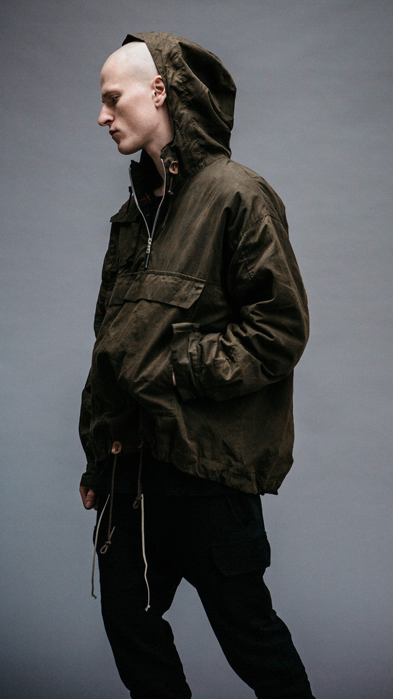 Pullover Jacket - Burnt Olive Beeswax