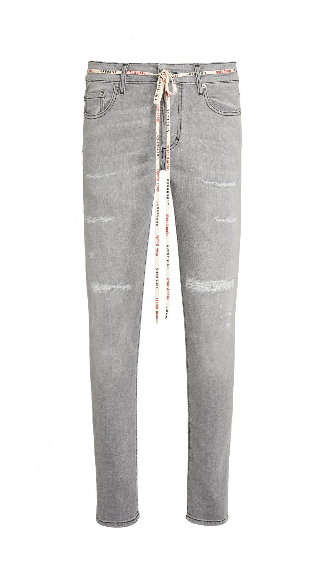 Repaired Denim - Grey