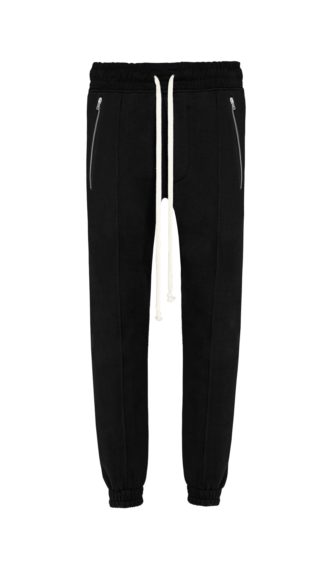 Pleated Joggers - Black