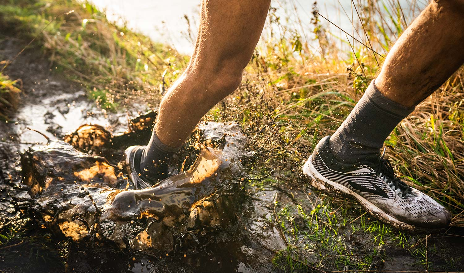 Lightweight Waterproof Socks for muddy trail running