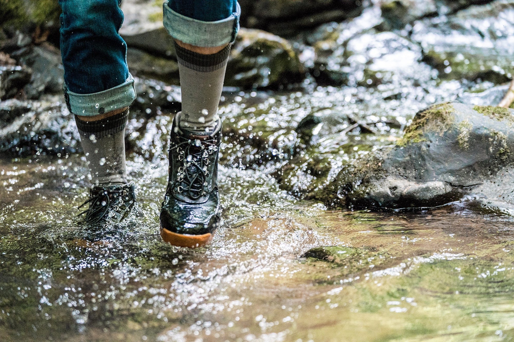 Crosspoint Waterproof Wool Mountain Socks for dry feet